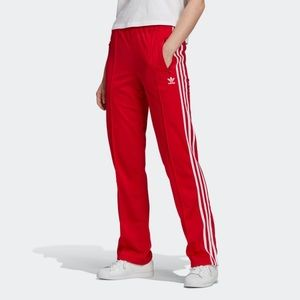 Red Adidas Firebird Track Pants